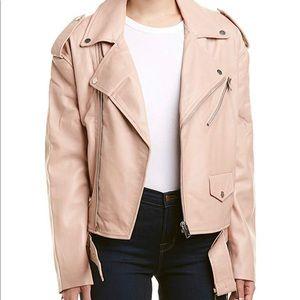 Blush pink Leather jacket size M